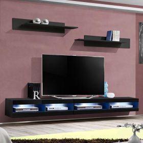 "Woods Modern Wall Mounted Floating 126"" TV Stand"