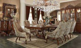 Wynwood Traditional Dining Room Set in Brown Cherry