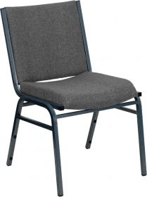 HERCULES Series Heavy Duty, 3'' Thickly Padded, Gray Upholstered Stack Chair [XU-60153-GY-GG]