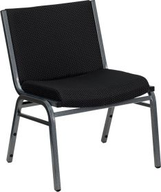 HERCULES Series 1000 lb. Capacity Big and Tall Extra Wide Black Fabric Stack Chair [XU-60555-BK-GG]