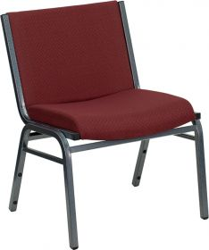 HERCULES Series 1000 lb. Capacity Big and Tall Extra Wide Burgundy Fabric Stack Chair [XU-60555-BY-GG]