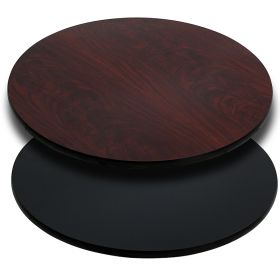 36'' Round Table Top with Black or Mahogany Reversible Laminate Top [XU-RD-36-MBT-GG]
