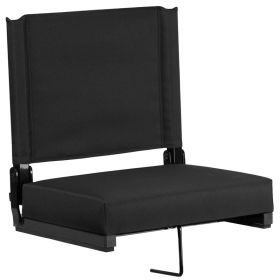Game Day Seats by Flash with Ultra-Padded Seat in Black [XU-STA-BK-GG]
