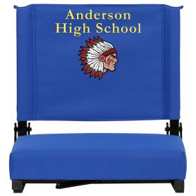 Embroidered Game Day Seats by Flash with Ultra-Padded Seat in Blue [XU-STA-BL-EMB-GG]