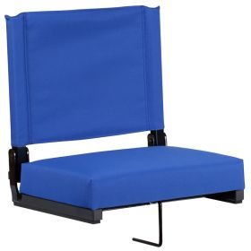 Game Day Seats by Flash with Ultra-Padded Seat in Blue [XU-STA-BL-GG]