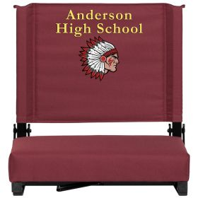 Embroidered Game Day Seats by Flash with Ultra-Padded Seat in Maroon [XU-STA-M-EMB-GG]