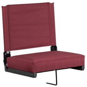 Game Day Seats by Flash with Ultra-Padded Seat in Maroon [XU-STA-M-GG]