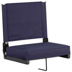 Game Day Seats by Flash with Ultra-Padded Seat in Navy [XU-STA-NVY-GG]