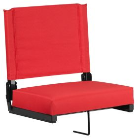 Game Day Seats by Flash with Ultra-Padded Seat in Red [XU-STA-RED-GG]