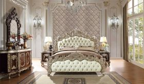 Yavapai Traditional Bedroom Set in Metallic Silver & Brown