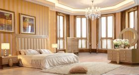 Gila Traditional Bedroom Set in White Gloss
