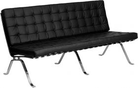 HERCULES Flash Series Black Leather Sofa with Curved Legs [ZB-FLASH-801-SOFA-BK-GG]