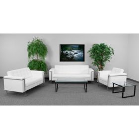 HERCULES Lesley Series Reception Set in White [ZB-LESLEY-8090-SET-WH-GG]