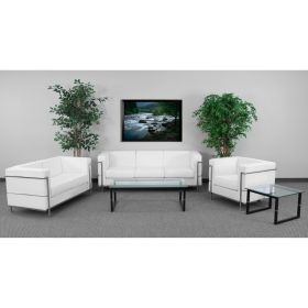 HERCULES Regal Series Reception Set in White [ZB-REGAL-810-SET-WH-GG]