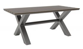 Zuo Bodega Dining Table in Grey & Brown