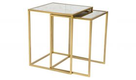 Zuo Calais Nesting Table in Brass