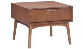 Zuo Design District Side Table in Walnut