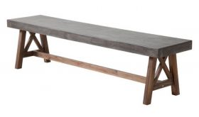 Zuo Ford Bench in Cement & Natural