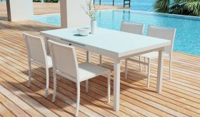 Zuo Mayakob Outdoor Dining Set in White