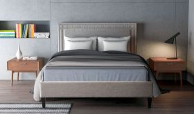 Zuo Modern Renaissance Bed in Dove Grey