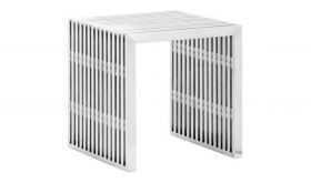 Zuo Novel Single Bench in Brushed Stainless Steel