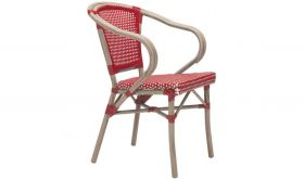 Zuo Paris Dining Arm Chair in Red & White