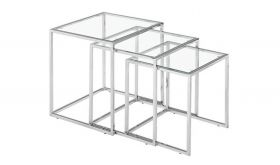 Zuo Pasos Nesting Table in Clear Glass