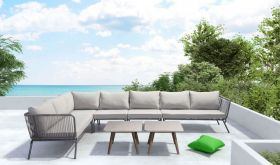 Zuo Pier Outdoor Set in Grey