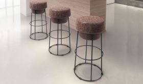 Zuo Pop Barstool in Natural & Distressed