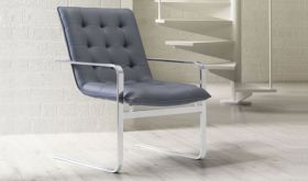 Zuo Solo Occasional Chair in Grey