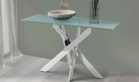 Zuo Stance Modern Console Table in Crackled