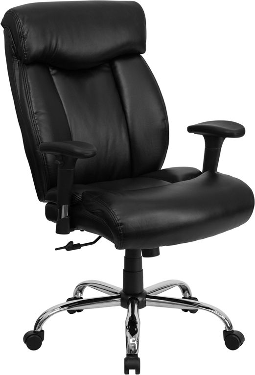 Hercules Series 400 Lb Capacity Big Tall Black Leather Executive Swivel Office Chair With Height