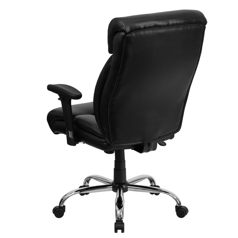 Hercules Series 400 Lb Capacity Big Tall Black Leather Executive Swivel Office Chair With Height Adjustable Arms Go 1235 Bk Lea A Gg