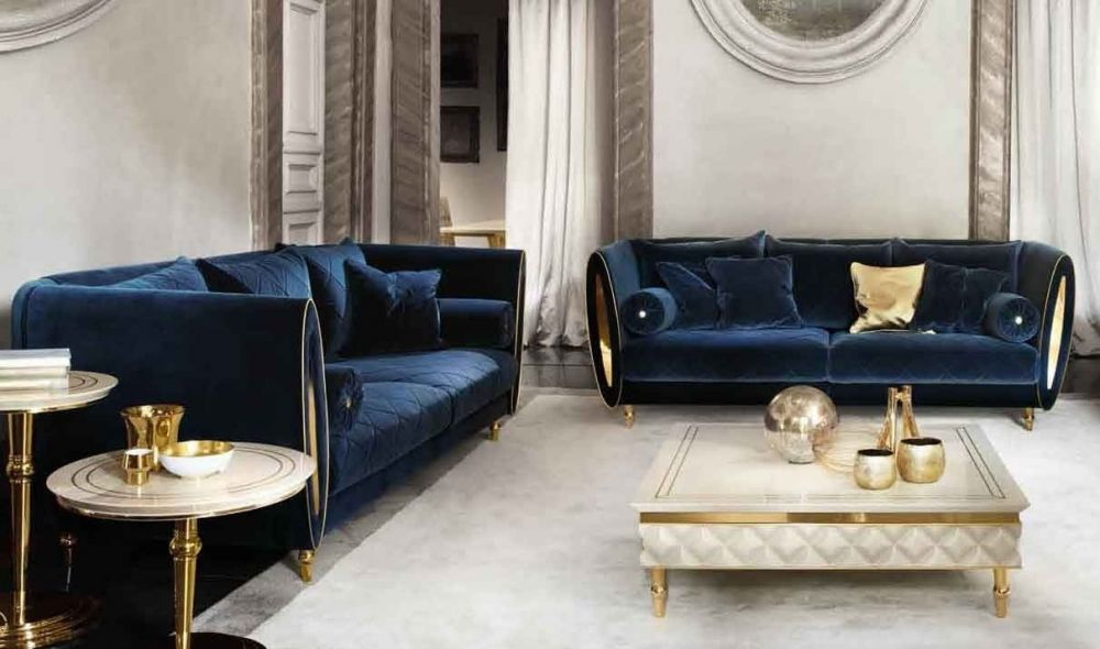 Sipario Contemporary Living Room Set In Gold Blue Beige Purple Get Furniture