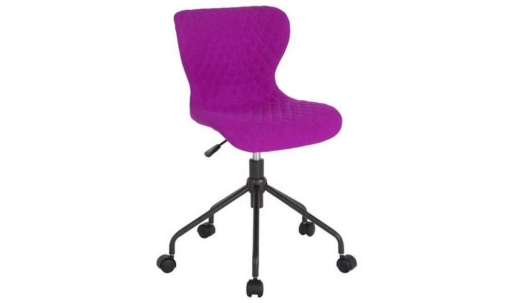 Office Upholstered Task Chair In Purple